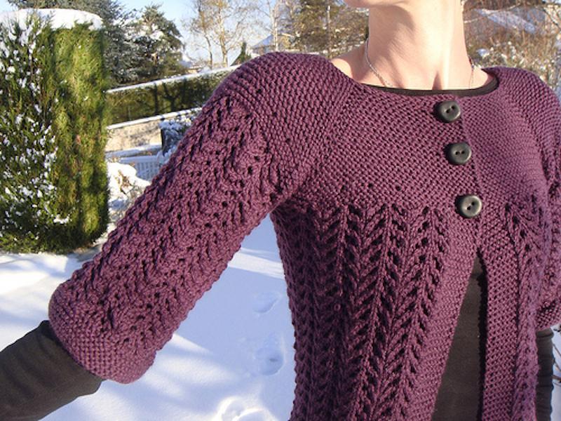 Patron de pull a tricoter