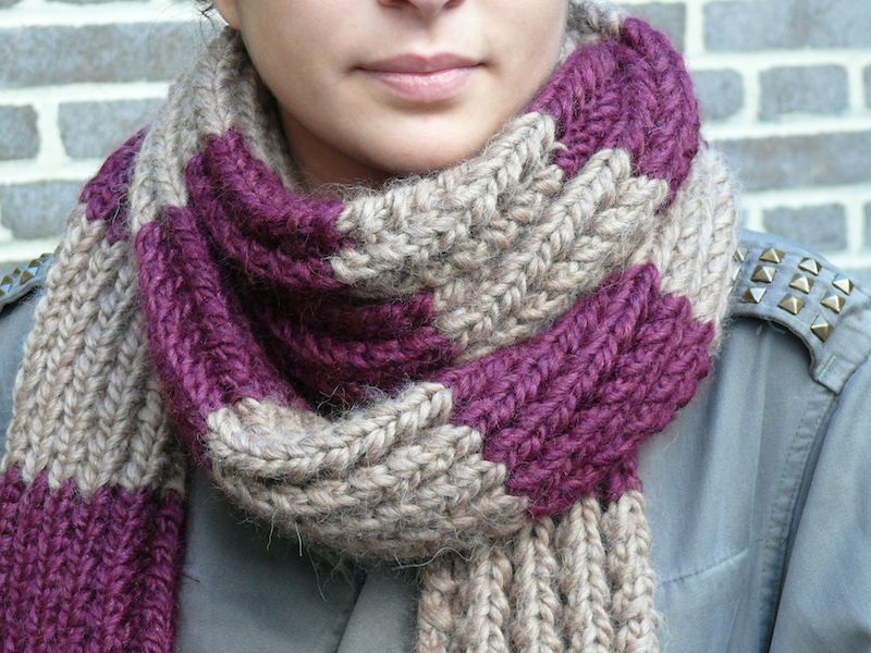 Comment tricoter un snood?
